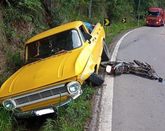 Morre caroneira de motocicleta após acidente de trânsito em Flores da Cunha
