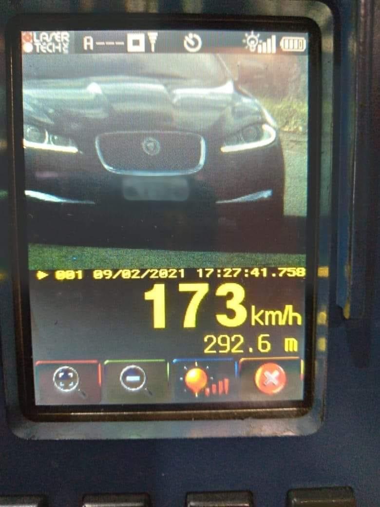 CRBM flagra carro a 173km/h na Rota do Sol em São Francisco de Paula