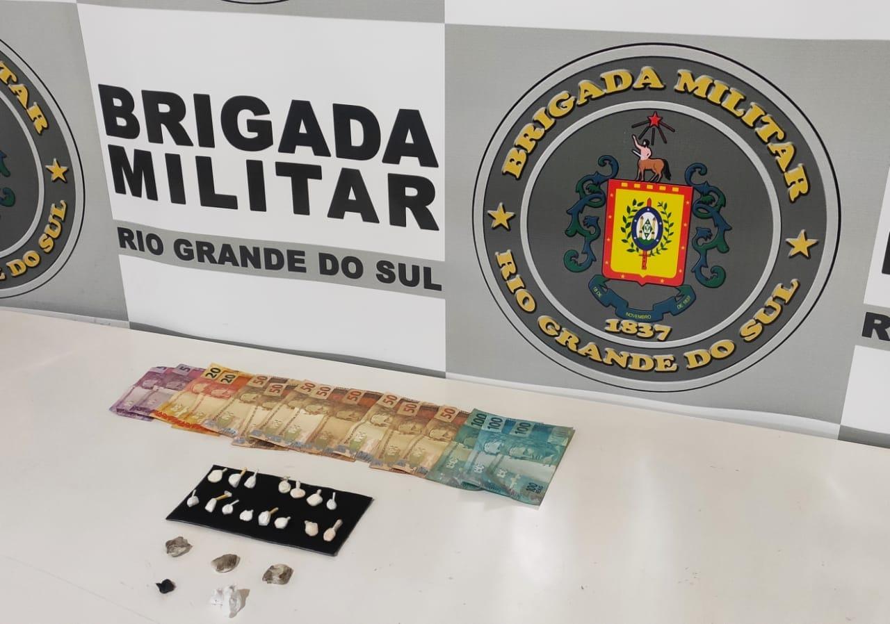 Brigada Militar prende homem por tráfico de drogas em Guaporé