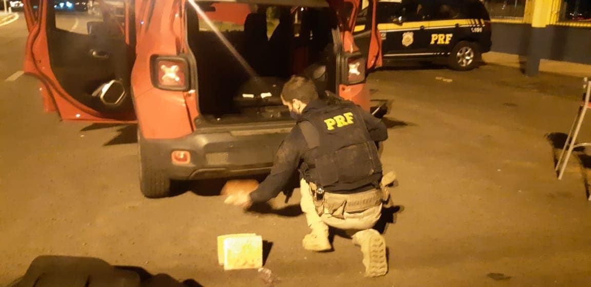 PRF prende traficante transportando pasta base de cocaína em Vacaria