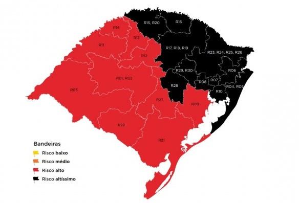 Serra e mais dez regiões são classificadas na bandeira preta do distanciamento controlado