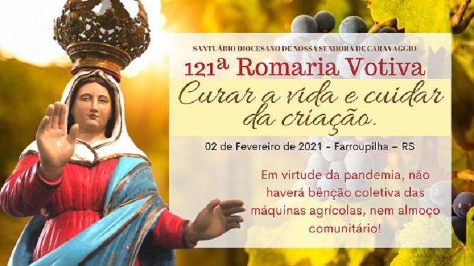 Farroupilha: Romaria Votiva de Nossa de Caravaggio ocorre nesta terça, dia 2