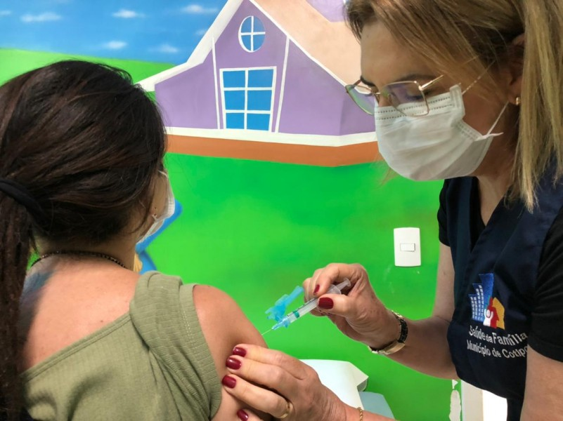 Em Cotiporã, mais de 15 profissionais já receberam a segunda dose da vacina AntiCovid