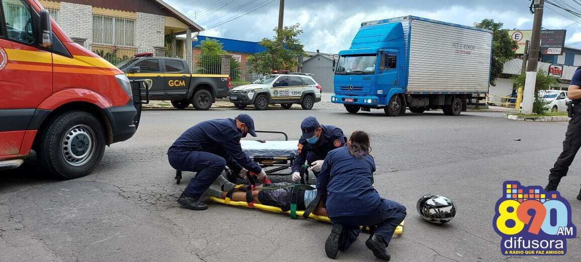 Jovem fica ferido em acidente no São Roque em Bento