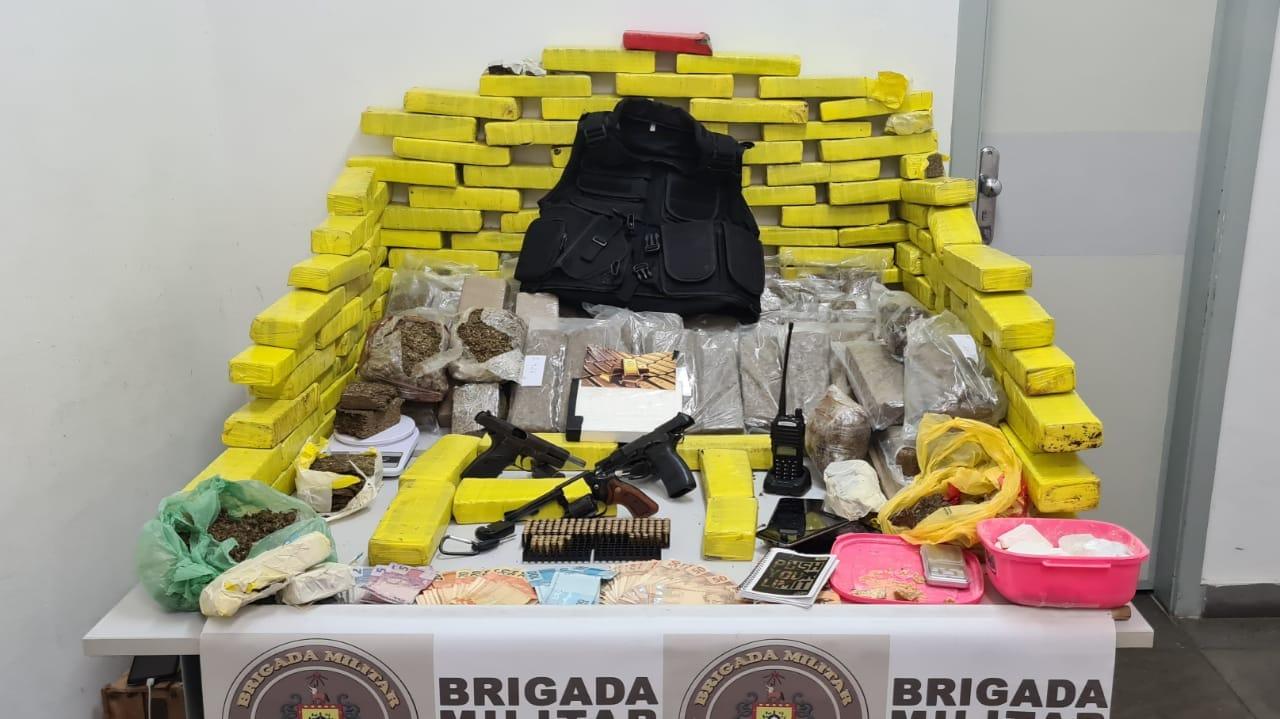 150 kg de maconha são apreendidos após trabalho de inteligência da Brigada Militar em Caxias