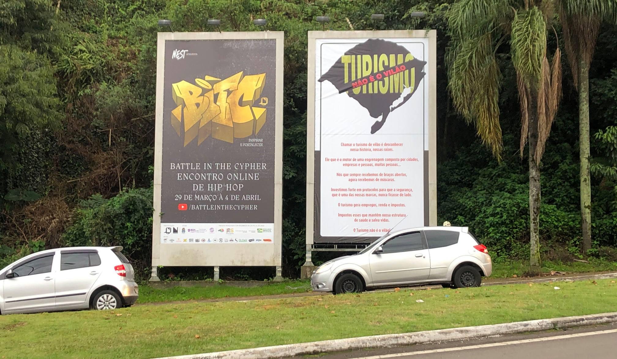 Setor do turismo faz manifestação pelo direito de trabalhar em Bento