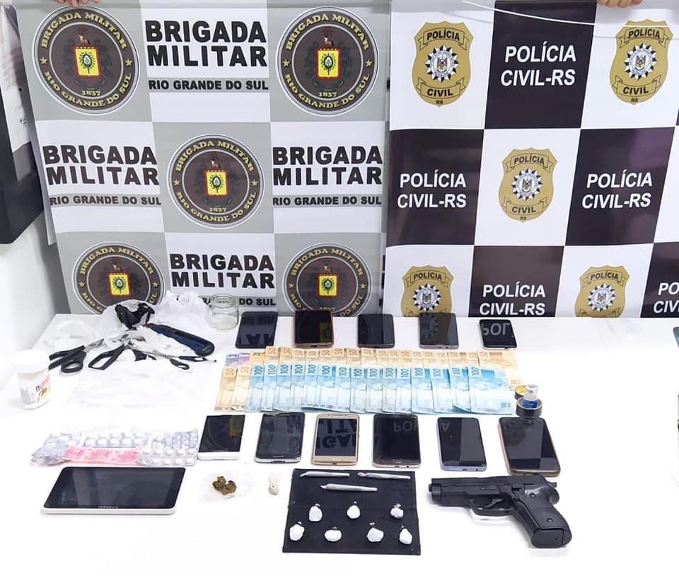 Força Tática da BM prende homem por tráfico de drogas, associação ao tráfico e corrupção de menores em Nova Prata