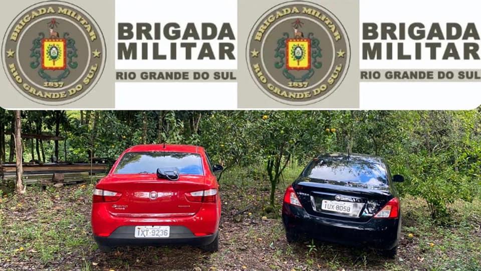 BM recupera veículos em situação de furto e roubo em Farroupilha; um com placas de Bento