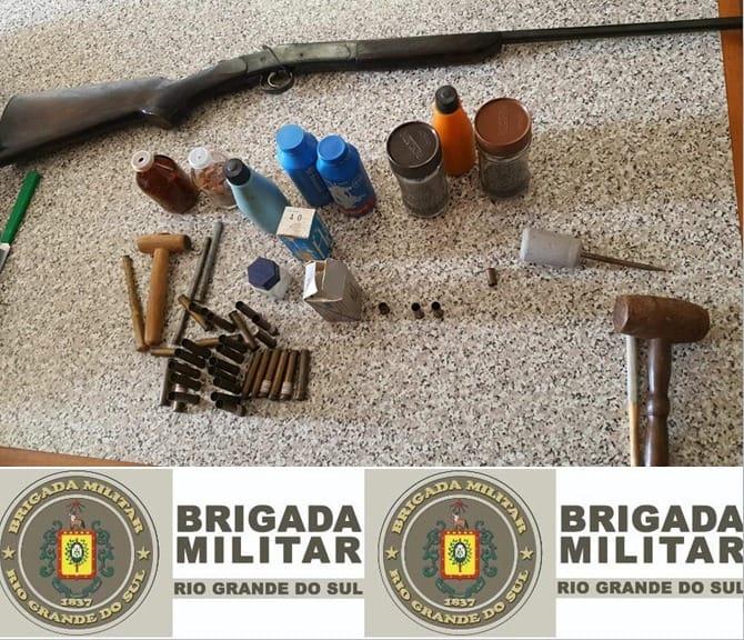 ROCAM apreende arma e munições em ocorrência de violência doméstica em Bento