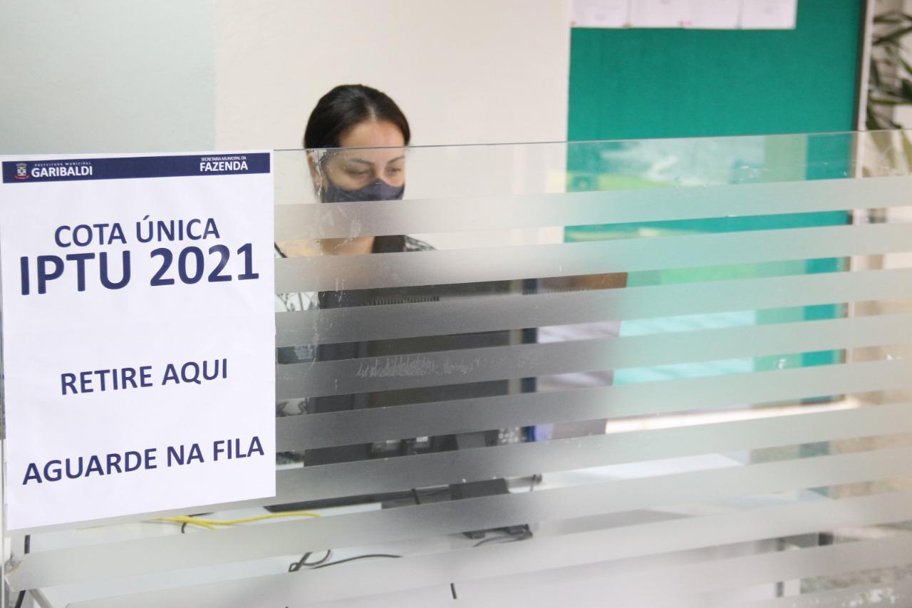 IPTU em cota única pode ser impresso no site da Prefeitura de Garibaldi