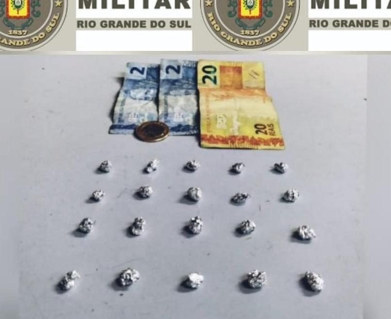 Brigada Militar realiza prisão por tráfico de drogas em Veranópolis