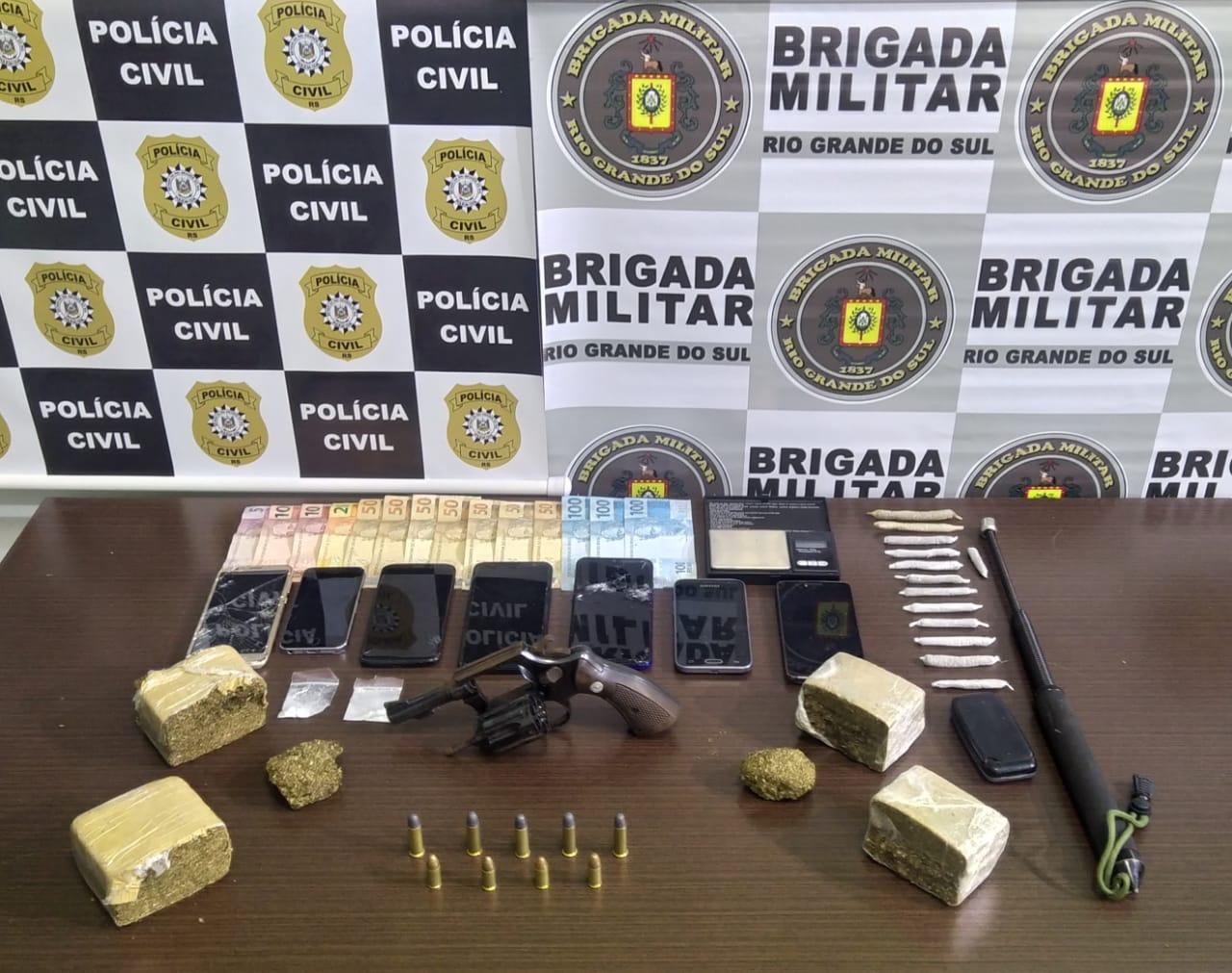 Veranópolis: operação conjunta entre BM e PC prende sete pessoas e apreende duas adolescentes