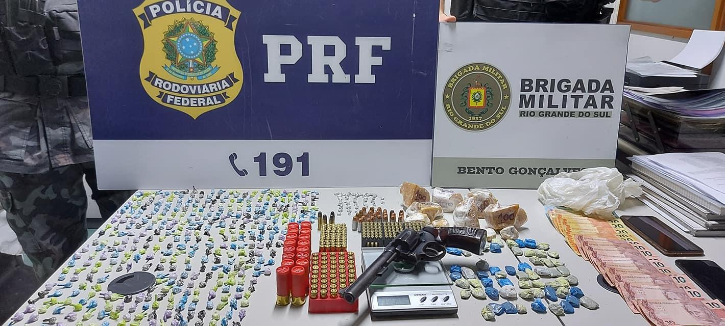 Homem é preso por tráfico de drogas no bairro Vila Nova em Bento