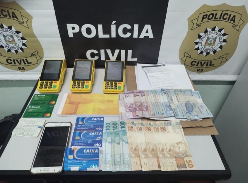 Polícia Civil prende estelionatário após perseguição em Garibaldi