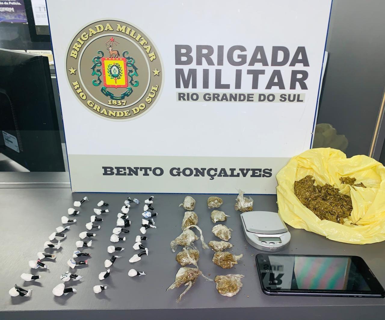 Detento em prisão domiciliar é preso por tráfico de drogas no Zatt em Bento