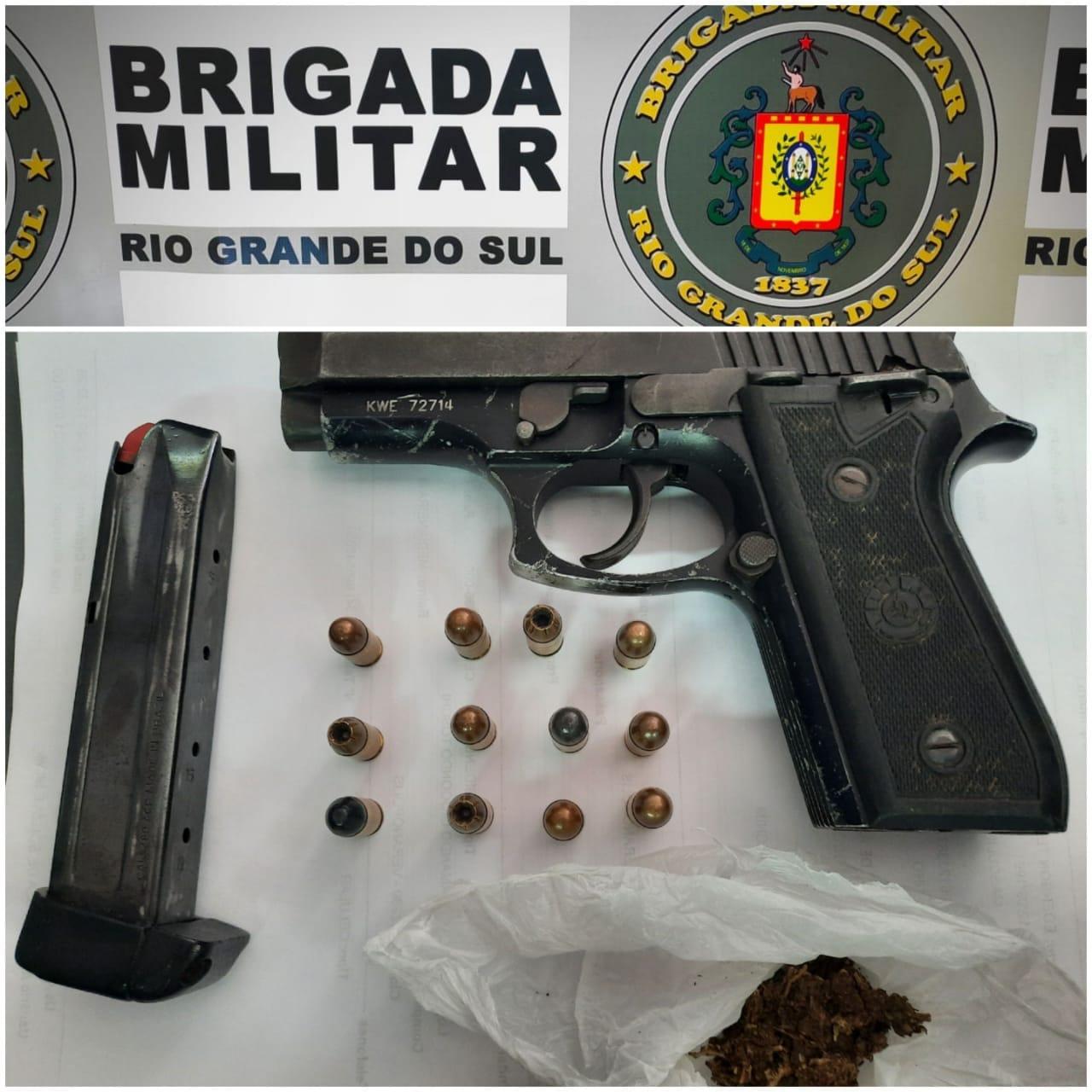 Homem é preso por porte ilegal de arma de fogo em Veranópolis