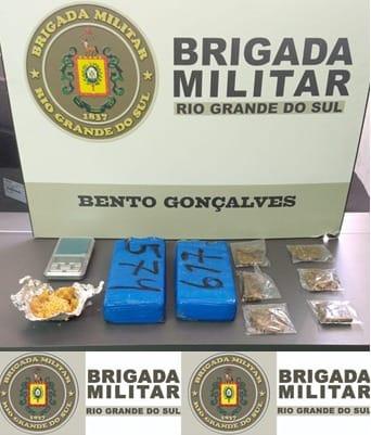 BM prende dois homens por tráfico de drogas em Bento; um dos indivíduos usava tornozeleira eletrônica