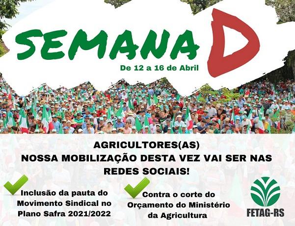 FETAG-RS e Sindicatos dos Trabalhadores Rurais organizam semana de mobilização