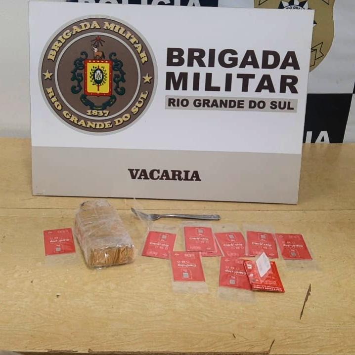 BM prende homem por tráfico de entorpecentes em Vacaria