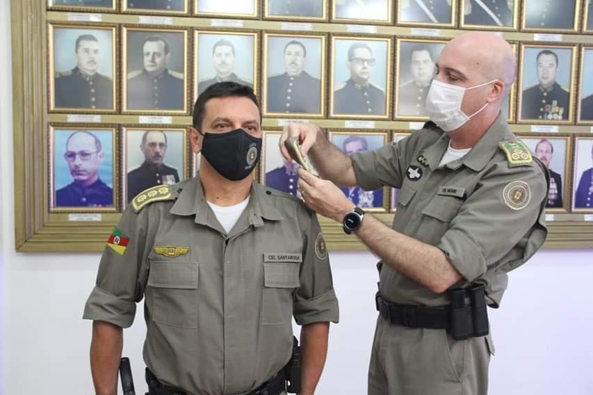 Cerimônia marca posse do bento-gonçalvense coronel Santarosa, novo comandante da Brigada Militar