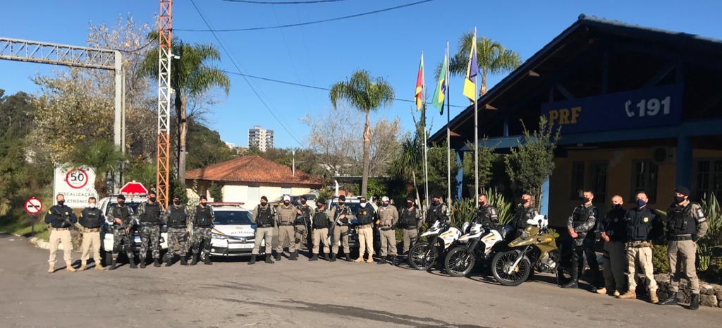 Brigada Militar e PRF realizam operação integrada em Bento