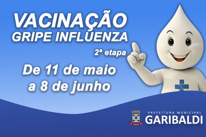 Garibaldi: Campanha de Vacinação contra a gripe entrará na segunda fase
