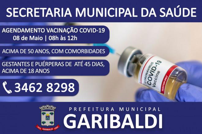 Garibaldi realiza agendamento para mais uma etapa da vacinação contra a COVID-19