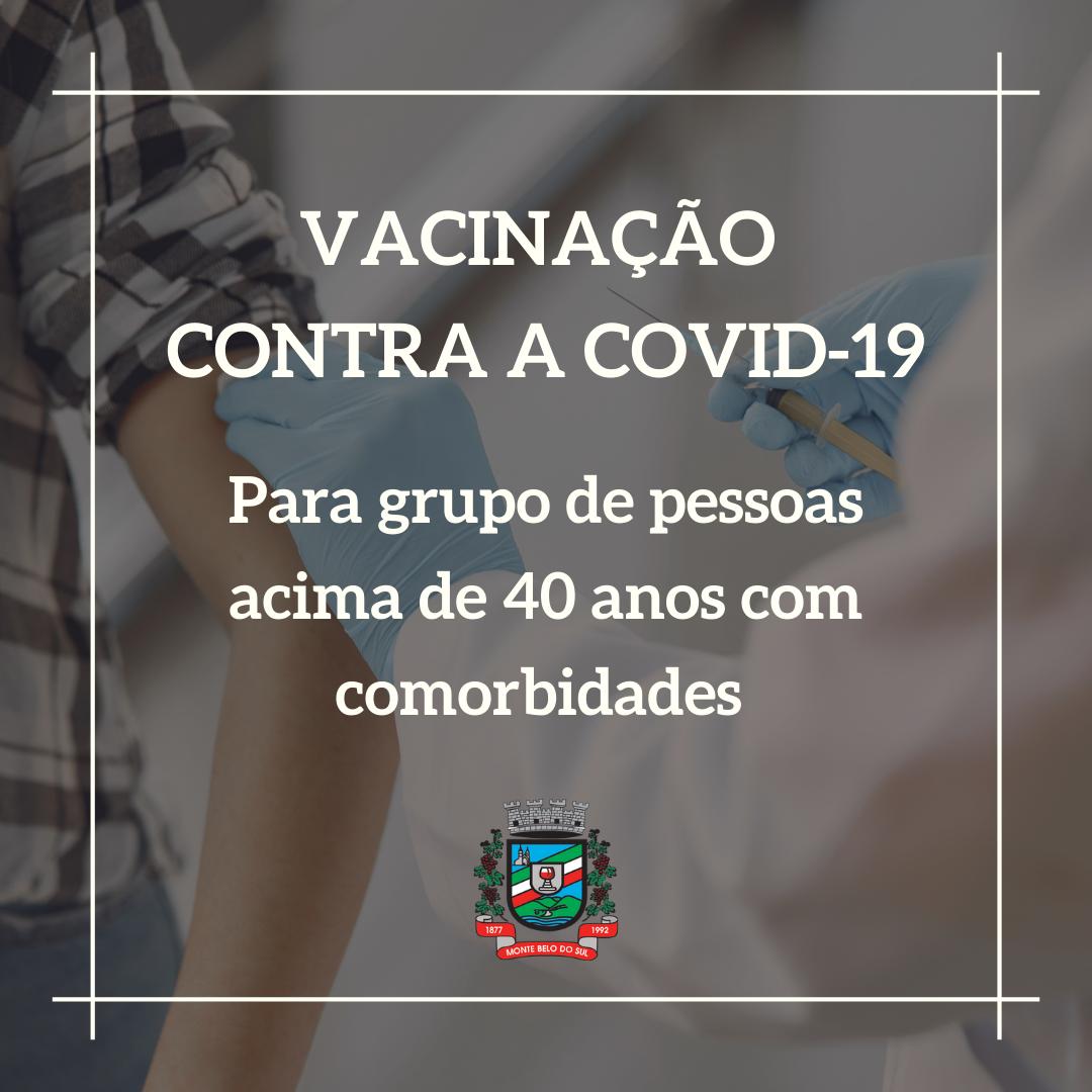 Monte Belo realiza fase II de vacinação contra Covid-19 para pessoas acima de 40 anos