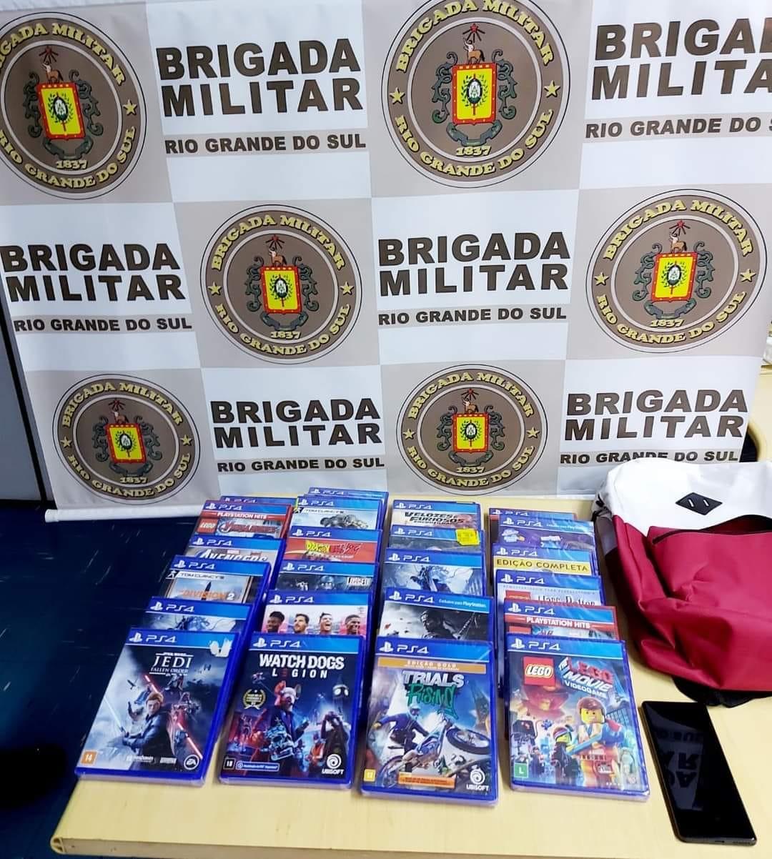 3º BRBM prende dupla, apreende adolescente por furto, concurso de pessoas e corrupção de menores na ERS-122 em Farroupilha