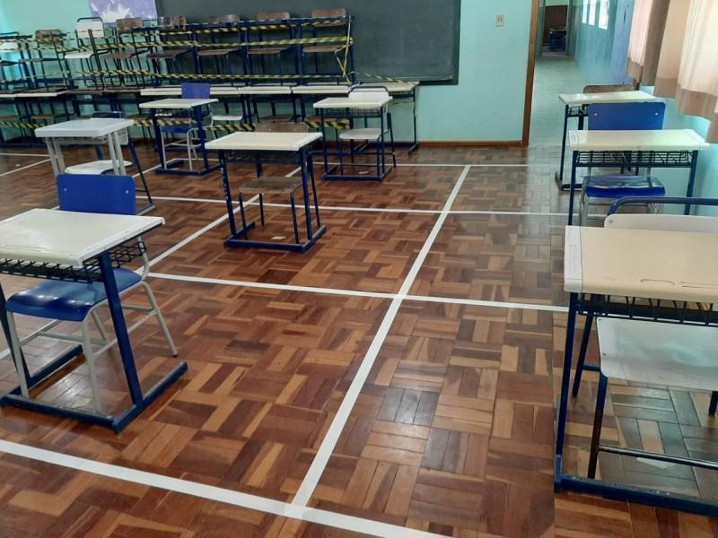 Escolas estaduais se preparam para receber os alunos a partir desta segunda