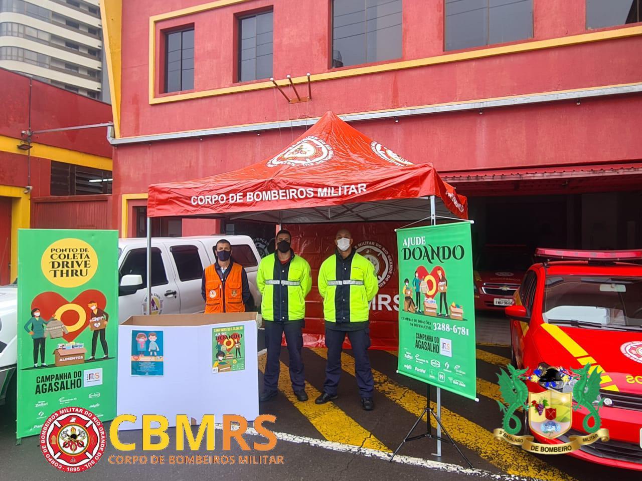 Bombeiros e Defesa Civil realizam ação para arrecadação de roupas e alimentos em Bento