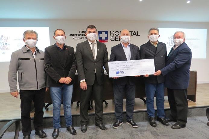 Campanha Todos pelo Geral recebe doação de 500 mil reais da CDL caxias