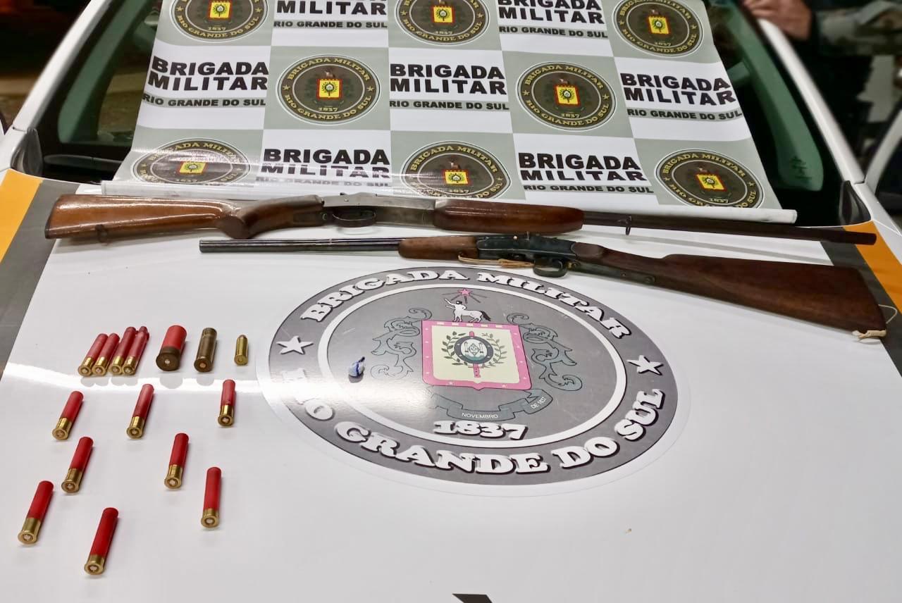 Brigada Militar prende homem por posse irregular de arma de fogo e droga em Vila Flores