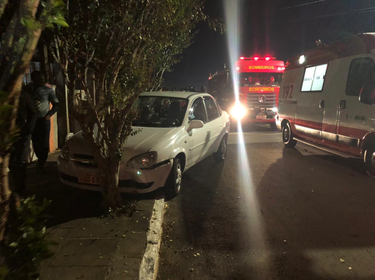 Bombeiros de Bento atendem a acidente de trânsito no São Roque
