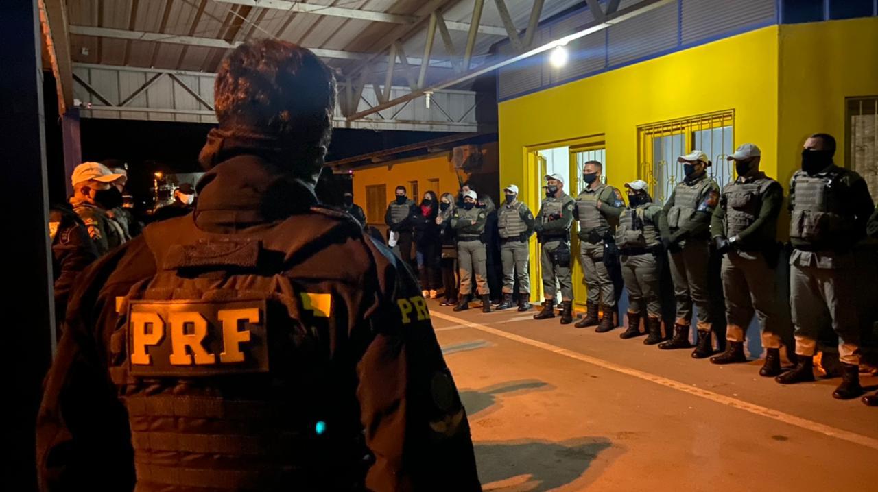 Forças policiais realizam operação conjunta em Nova Prata