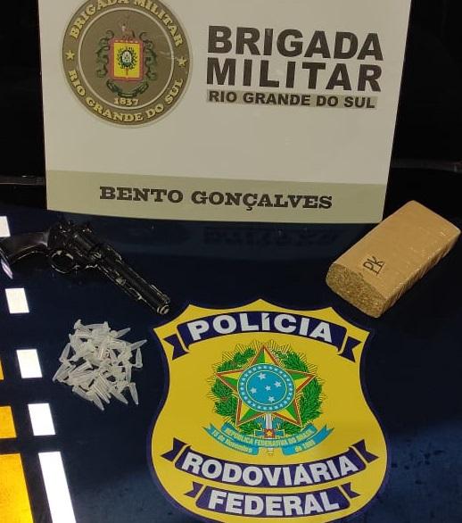Ação da Brigada Militar e PRF resulta na apreensão de drogas no bairro Municipal em Bento gonçalves