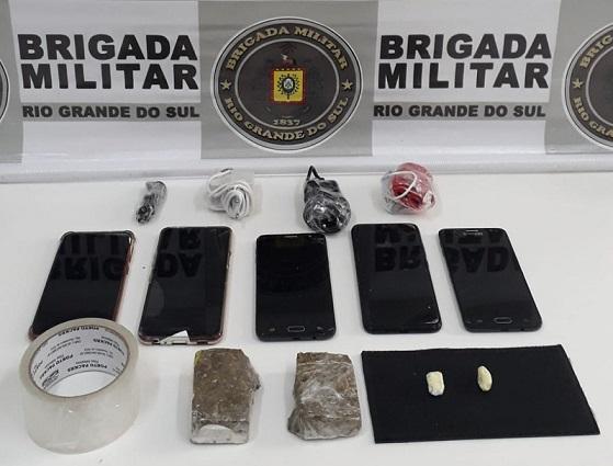 Brigada Militar frustra tentativa de arremesso de drogas para interior do Presídio de Nova Prata
