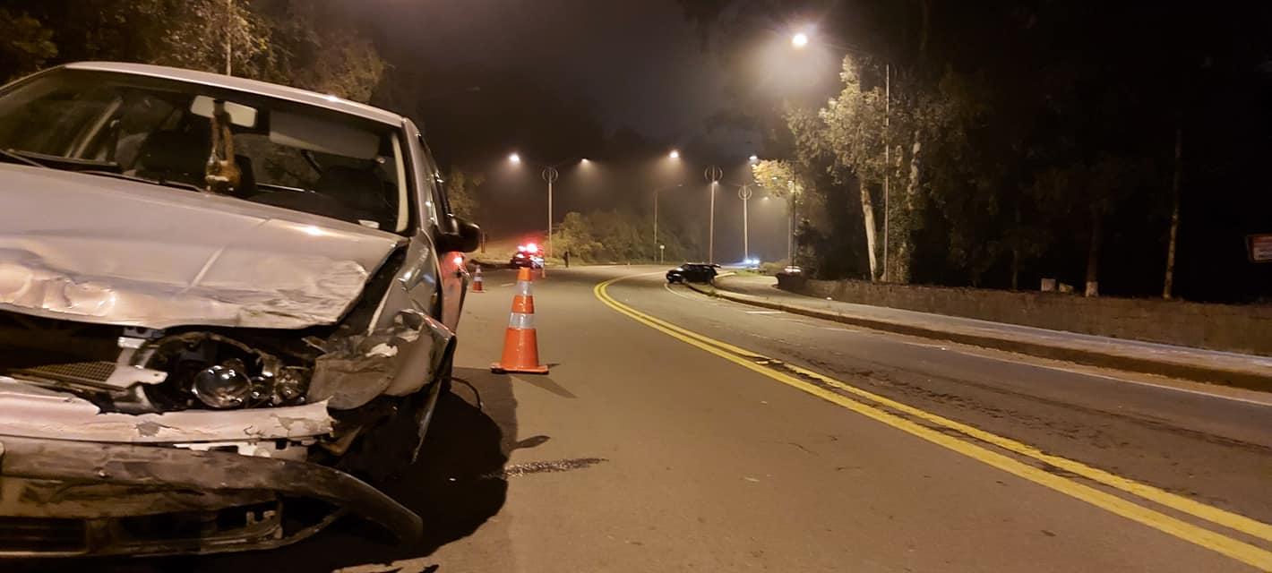 Acidente de trânsito deixa duas pessoas feridas na BR-470 em Garibaldi
