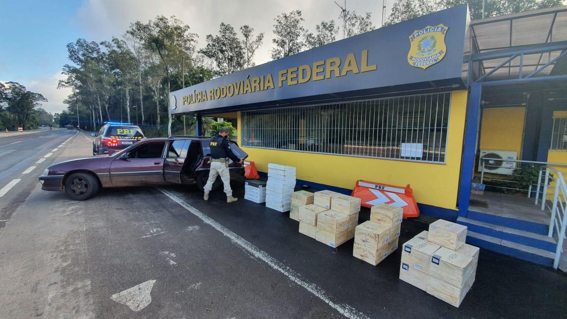 PRF apreende quase 300 garrafas de vinhos estrangeiros em Triunfo