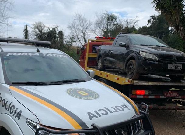 Brigada Militar recupera veículo furtado no Vale dos Vinhedos, em Bento