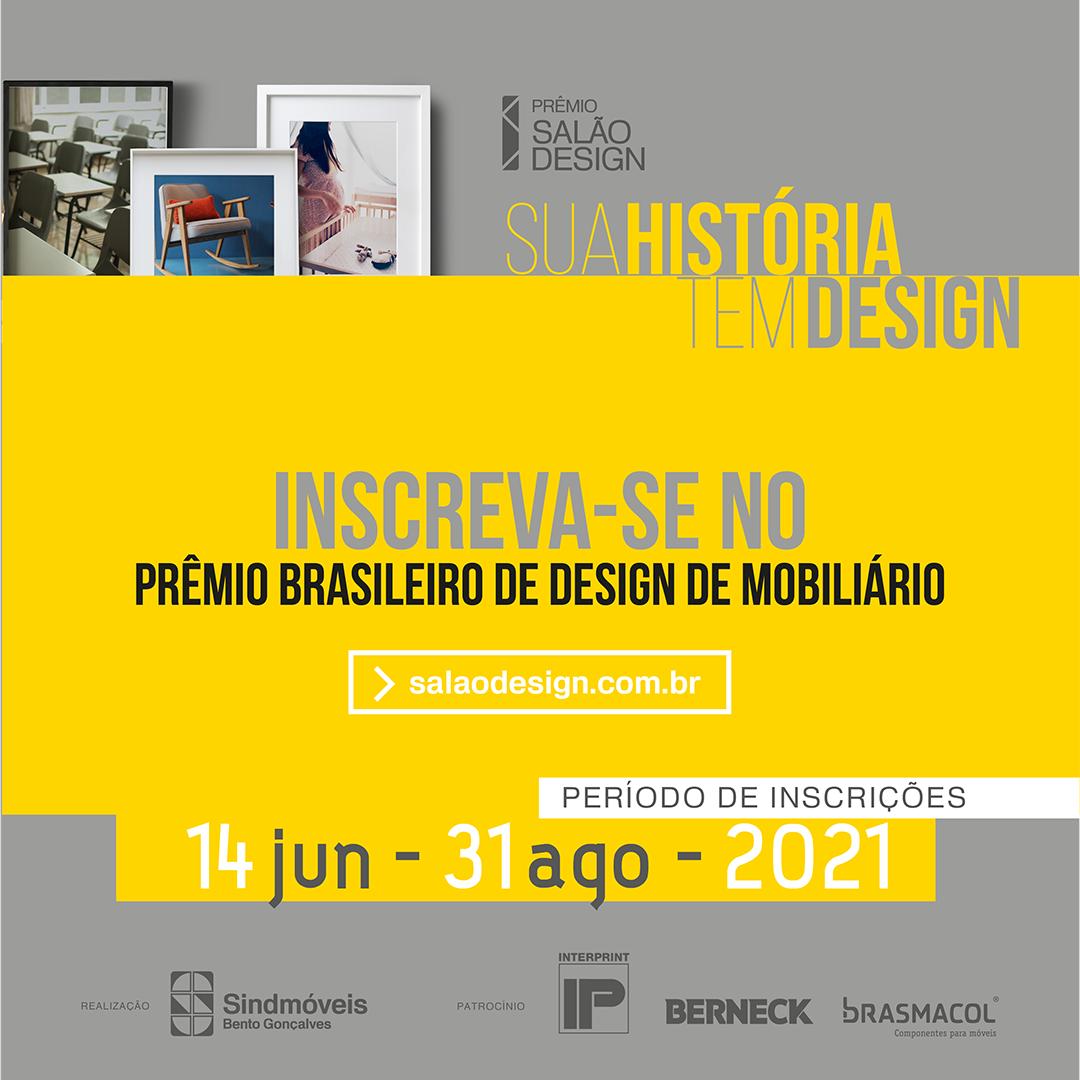 Prêmio Salão Design abre inscrições nesta segunda