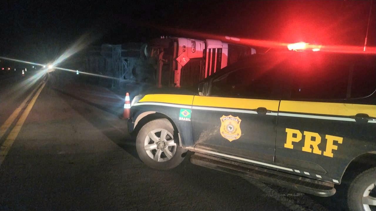 PRF atende acidente com morte em Vacaria