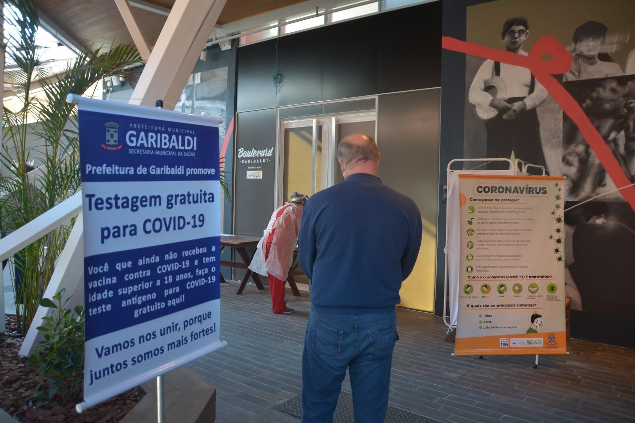 Primeiro dia de mobilização testa 141 pessoas em Garibaldi