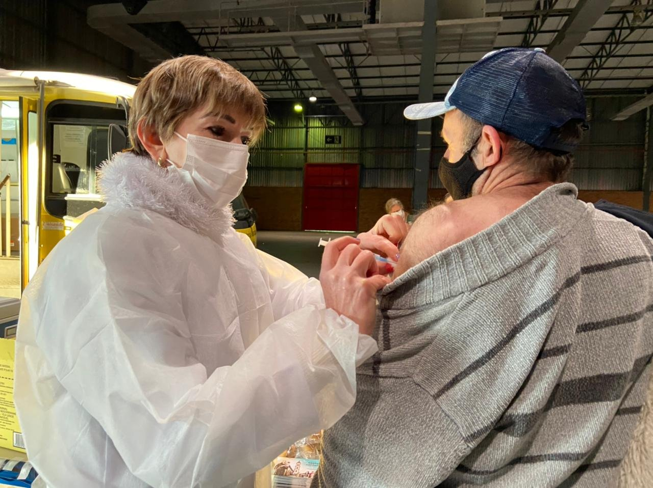 Mais de 1,6 mil pessoas são vacinadas contra o coronavírus em Bento