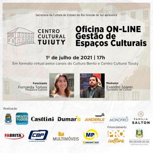 SECULT promove oficina on-line sobre Gestão de Espaços Culturais
