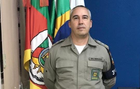 Major Mauri José Bergamo é novo subcomandante do 3ºBPAT