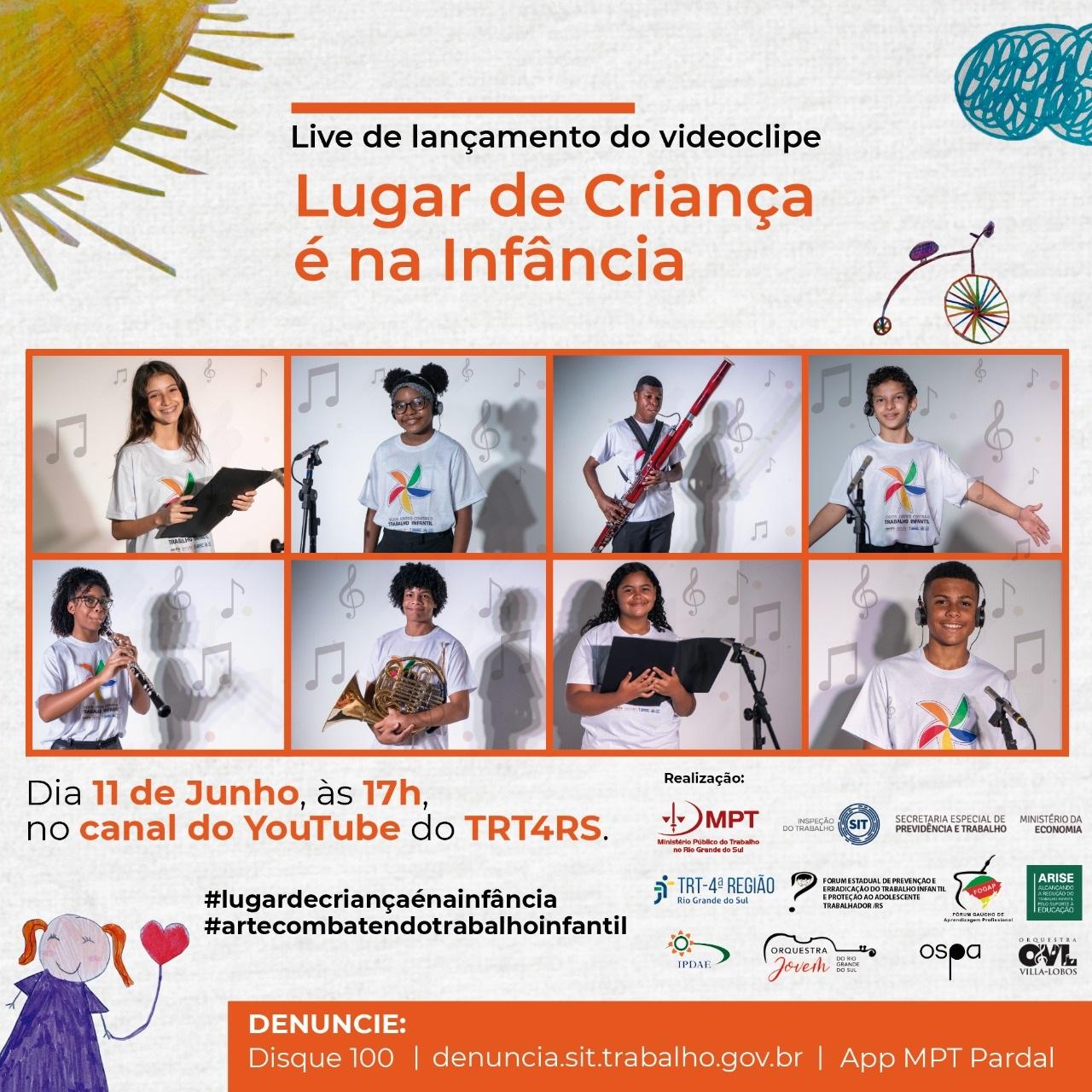 Combate ao Trabalho Infantil: live no dia 11 de junho marcará lançamento de campanha