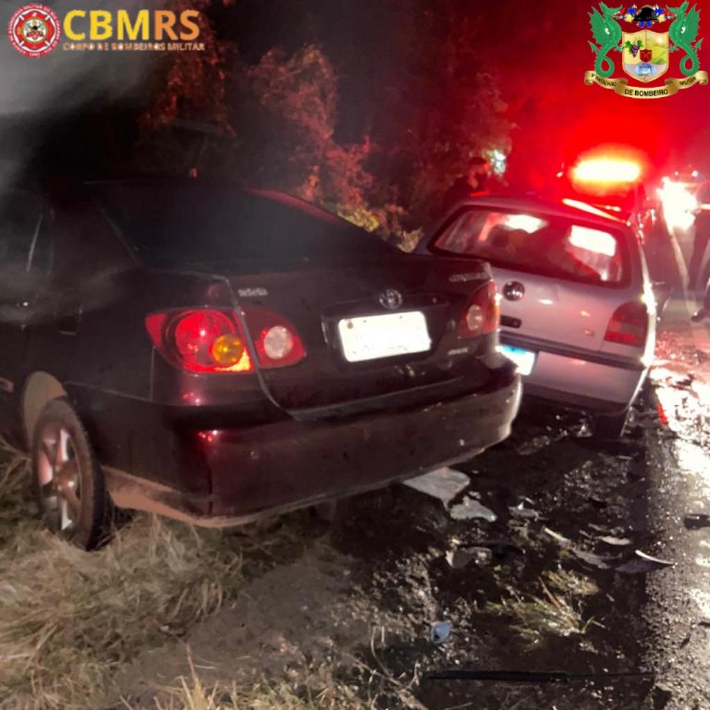 Bombeiros de Veranópolis atendem ocorrência de acidente em Nova Bassano
