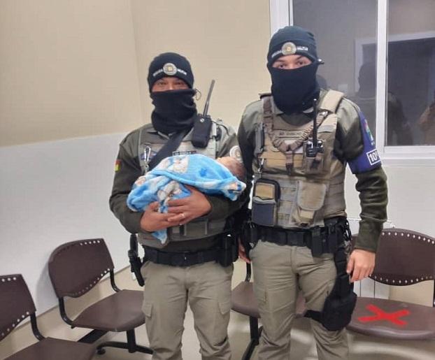 Brigada Militar salva bebê engasgado em Vacaria