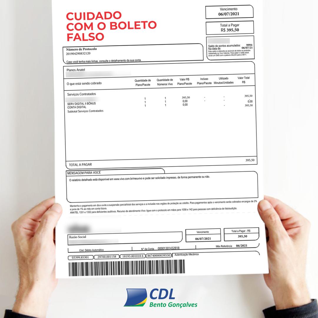 CDL-BG alerta para incidência de golpes do 'falso boleto'
